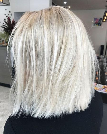 Blonde Lob Short Ash