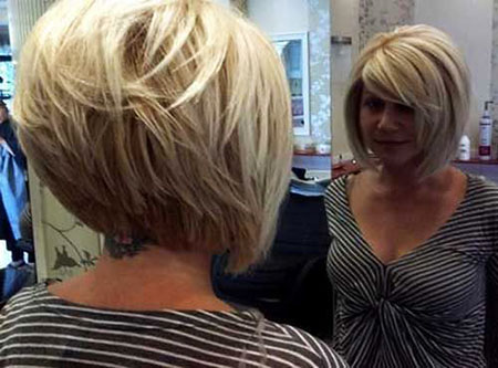 Short Bob Hair Stacked