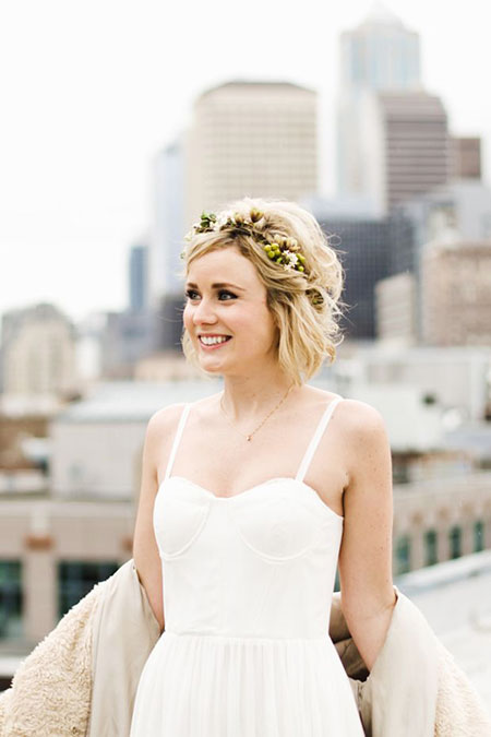 Wedding Short Hairtyles Bride