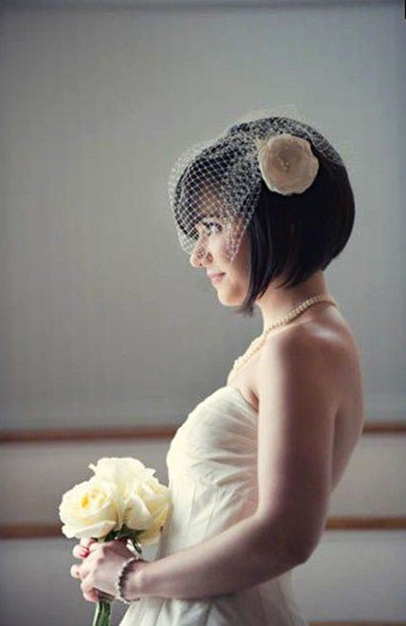 Wedding Short Birdcage Veil