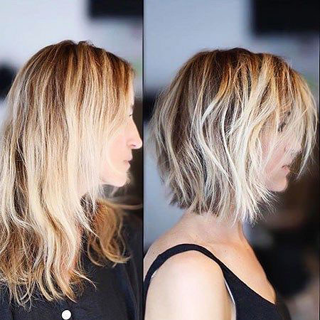 Blonde Short Balayage Wavy