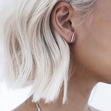 Summer Hair, Bar Earrings Stud Studs