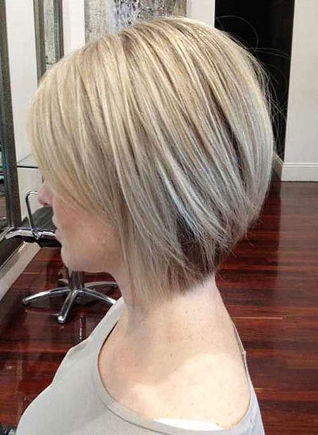 Fine Hair, Bob Short Blonde Layered