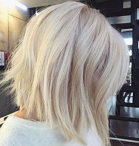 Platinum Balayage Blonde Bob