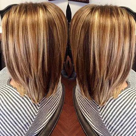 Hair Color Brown Lob