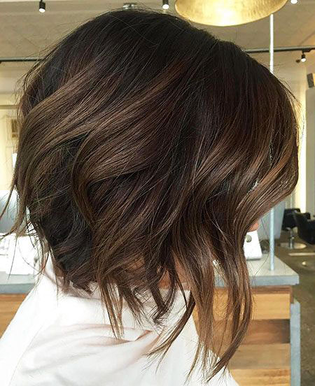 Brown Balayage Bob Dark