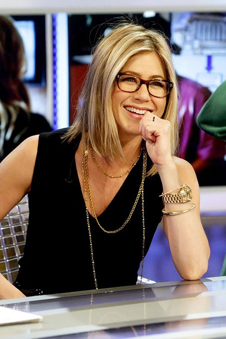 Aniston Jennifer Short Glasses