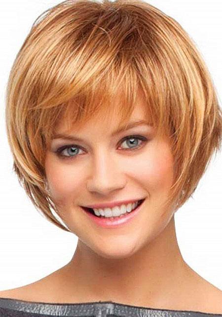 Round Face, Short Hairtyle Bob Haircuts