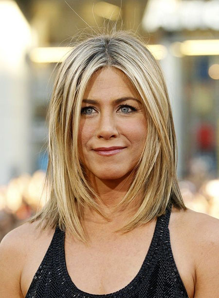 Shoulder Length Hair, Aniston Jennifer Length Hair