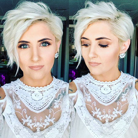 Blonde Pixie Hair, Blonde Pixie Platinum Chin