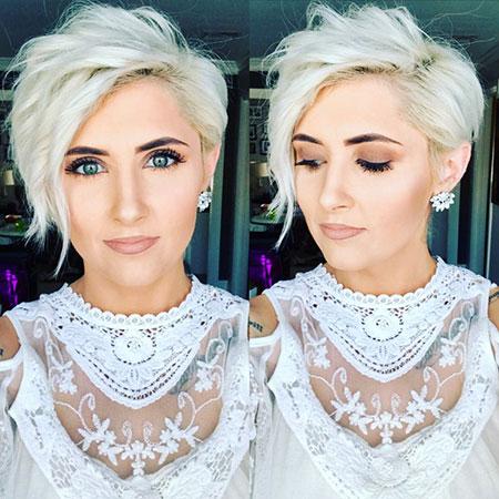 Blonde Pixie Hair, Blonde Pixie Platinum Chin