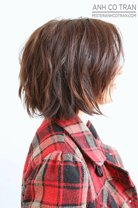 Textured Bob Thick Hair, Bob Short Haircuts Shaggy