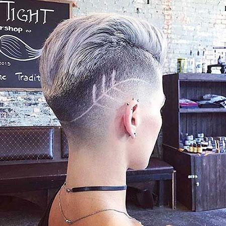 Simple Hair Tattoo, Pixie Short Hair Messy
