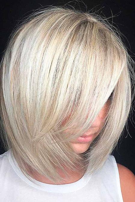 Blonde Bob Balayage Lob