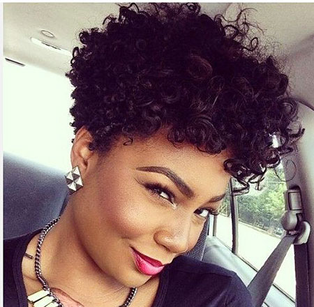 Curly Natural Short Black