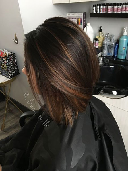 Brown Highlights Hair Dark