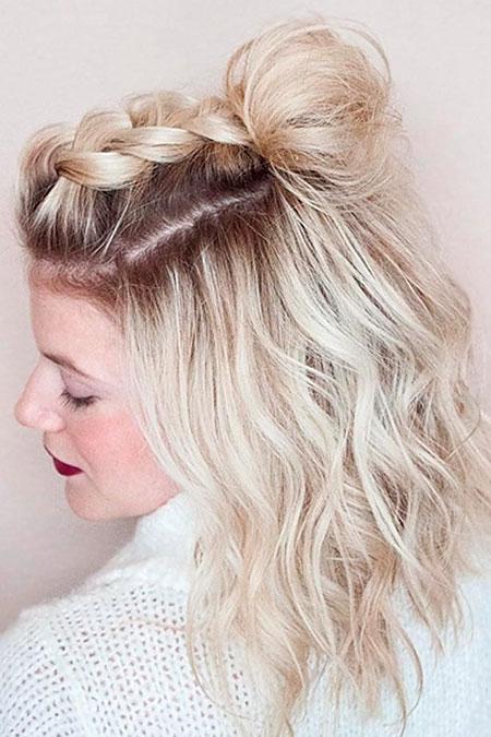 Blonde Short Hair Lob