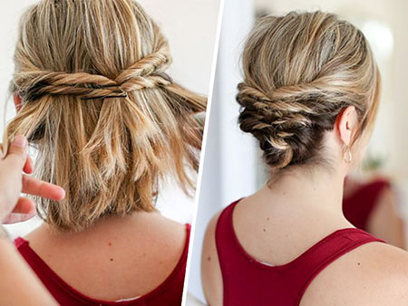 Easy Updo for Short Hair, Short Messy Hair Updo