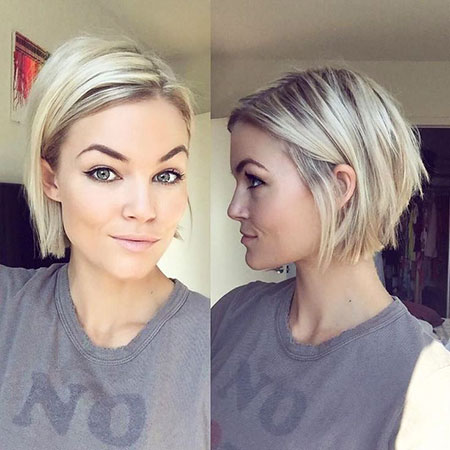 Short Hairtyle for Fine Hair, Short Length Chin Fine
