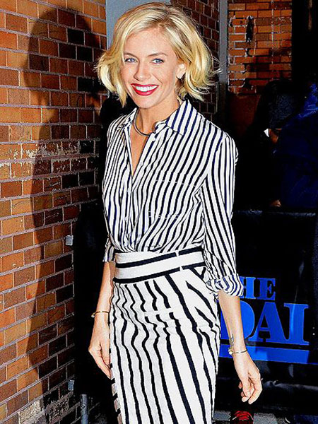 Sienna Miller Short Hair, Short Sienna Up Big
