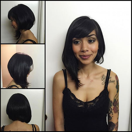 Bob Hair Asymmetrical Long