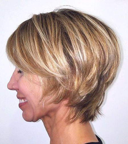 Bob Blonde Pixie Layered