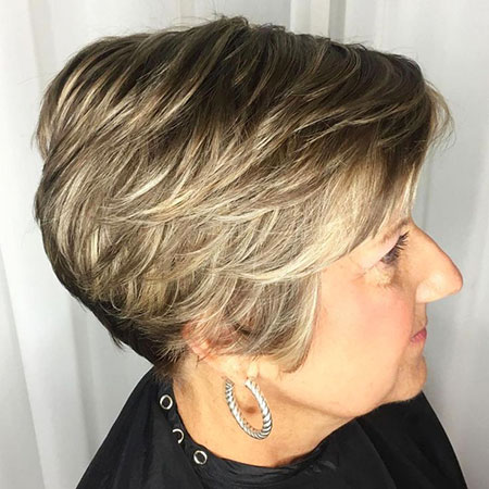 Pixie Layered Older Women