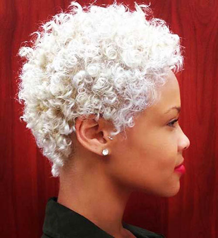 Curly Blonde Short Black