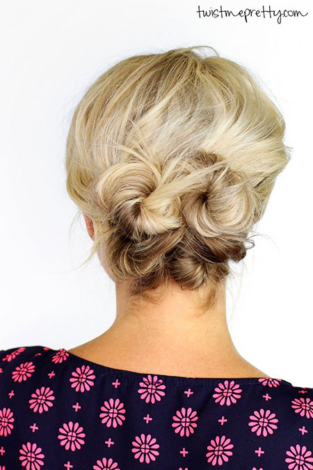 Updo Short Hair Simple