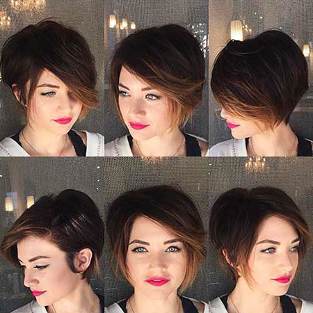 Side Parted Long Pixie, Pixie Hair Bob 2017