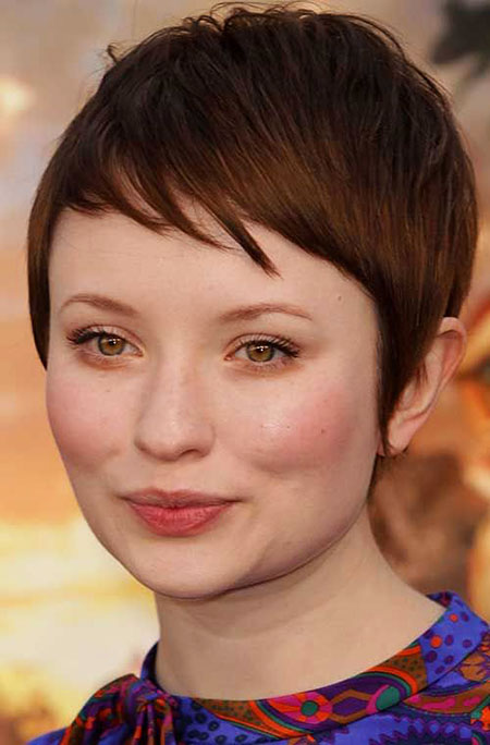 Chubby Round Face, Short Face Pixie Bangs
