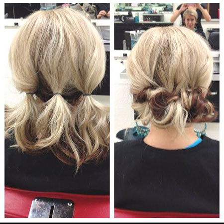 Cute Low Bun, Hair Updo Easy Length