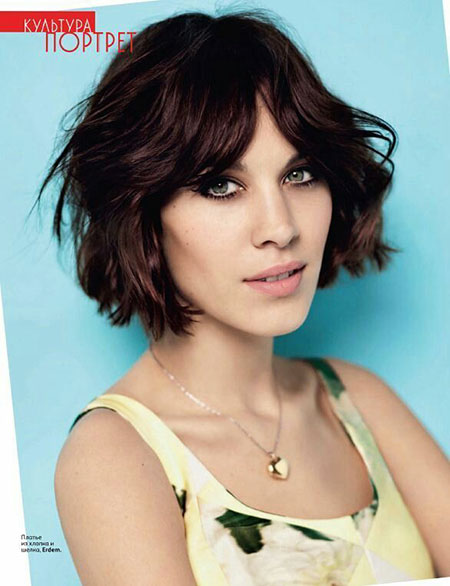 Hair Short Wavy Bangs
