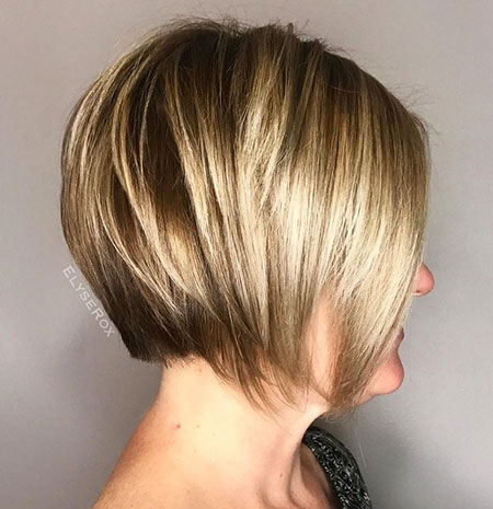 Bob Layered Blonde Short