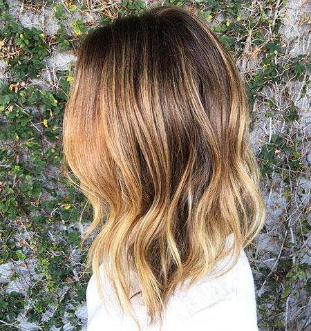 Balayage Lob Hair Bronde