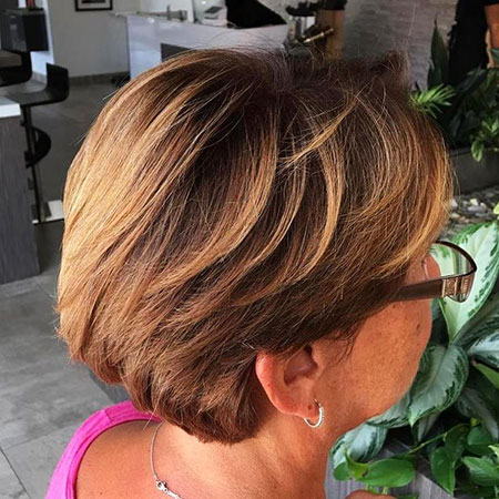 Short Hair Layered Modern