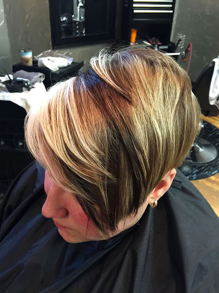 Bob Layered Blonde High
