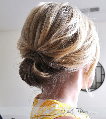 Simple Style, Hair Updo Easy Short