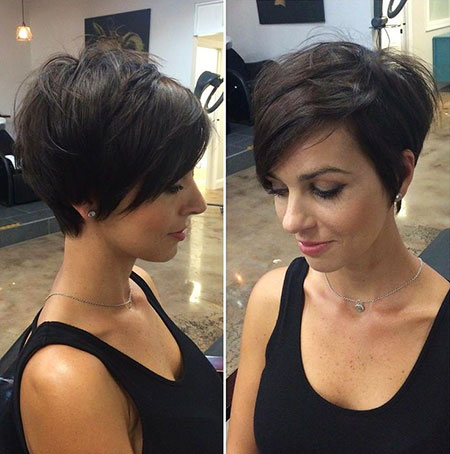 Thick Hair, Short Pixie Hair Layered