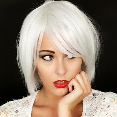 White Bob, Hair Blonde White Short
