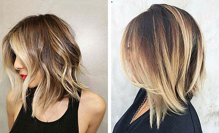 Balayage Short Medium Length Hair, Hair Balayage Length Shoulder