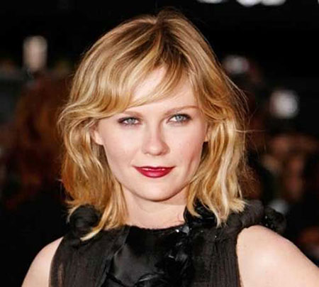 Kirsten Dunst, Hair Wavy Short Hairtyles