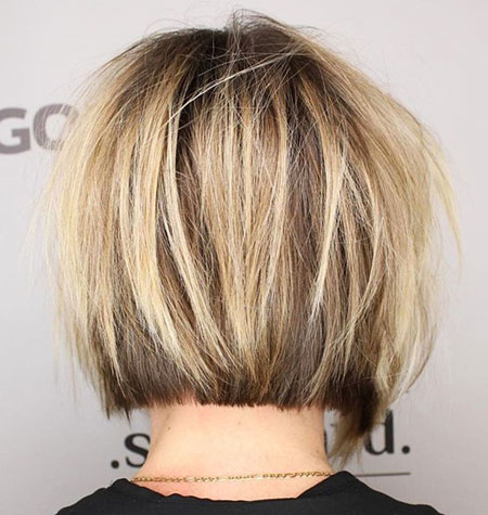 Short Bob Layered Blonde