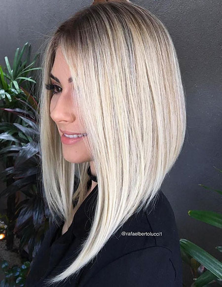Blonde Lob Long Bob