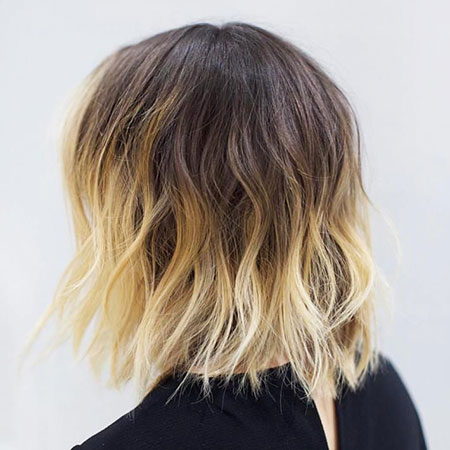 Balayage Choppy Bob Brown