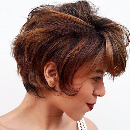 Brown Pixie Short Thick