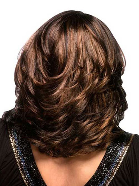 Short Layered Hairtyle for Thick Hair, Layered Hair Medium Haircuts