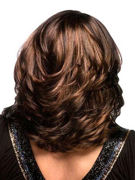 Short Layered Hairtyle for Thick Hair, Layered Hair Medium Haircuts