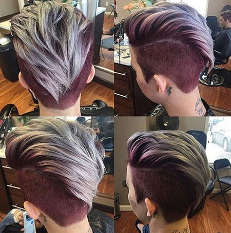 Short Shaved Hairtyle, Hair Short Pixie Thick