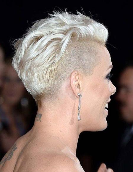 Blonde Short Pixie Shaved